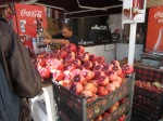 The ubiquitous pomegranate juice stands.