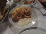 Some of the best calamari I've had, with great dip.