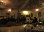 Eating in a cave restaurant in Goreme, Cappadocia.