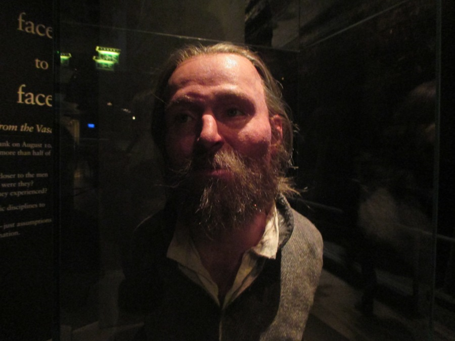 Reconstructed face of dead man found in the Vasa, Vasa Museum