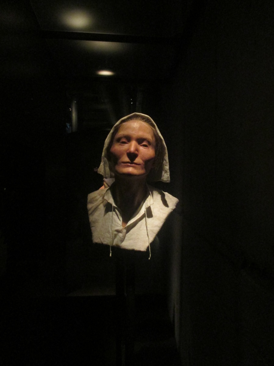 Reconstructed face of dead woman found in the Vasa, Vasa Museum