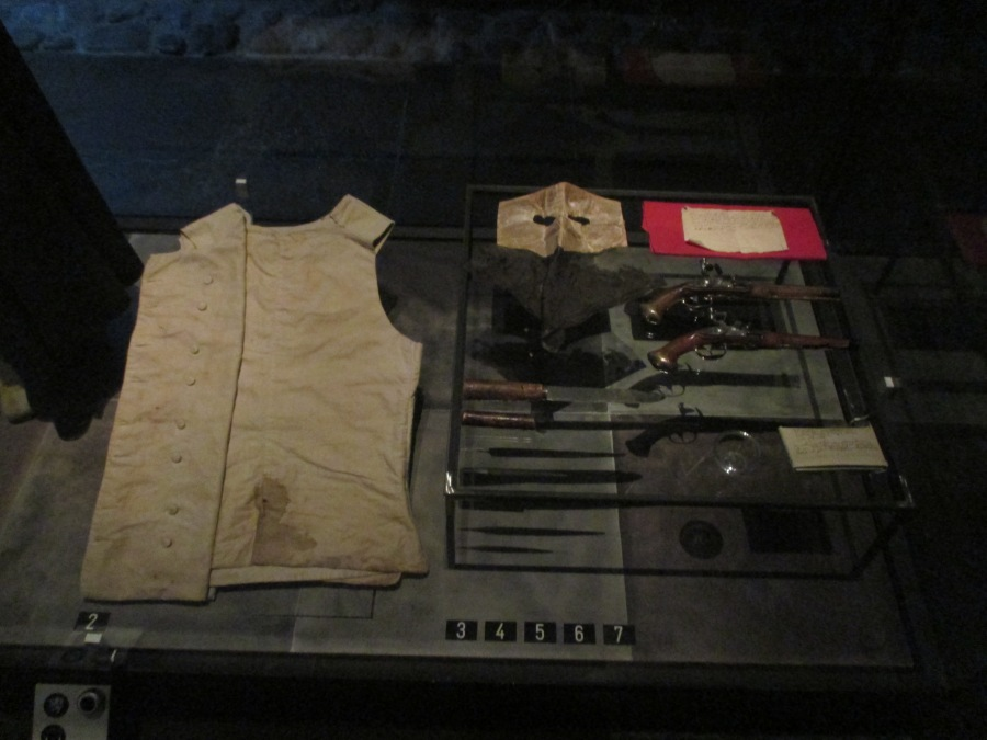 Artifacts from the assassination of King Gustav III, Royal Armoury
